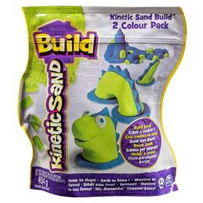 Kinetic Sand Build - Piasek konstrukcyjny 2 kolory 454g Zielony i niebieski 20072343