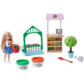 Barbie - Zestaw Ogródek i lalka Chelsea FRH75