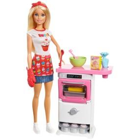 Barbie - Zestaw Domowe wypieki i lalka FHP57