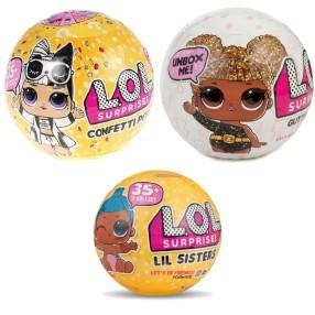 L.O.L. SURPRISE - LOL w kuli niespodziance Confetti Pop i Brokatowa + Musująca GRATIS