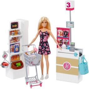 Barbie - Zestaw Supermarket i lalka FRP01