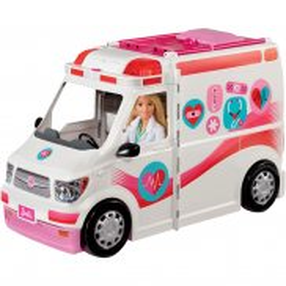 Barbie - Karetka Mobilna klinika 2 w 1 FRM19