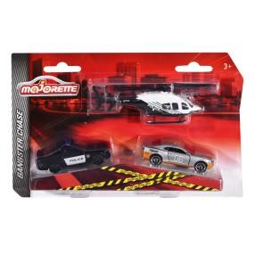 Majorette - Pojazdy SOS 3 szt. Pościg Policyjny 2057300 02