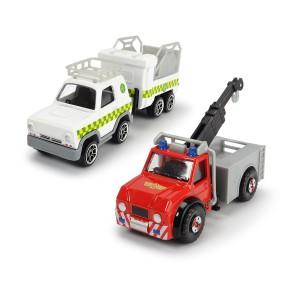 Dickie - Strażak Sam Pojazdy 1:64 3-Pack Phoenix, Vet 4x4 z przyczepą 3099629 B