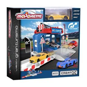Majorette Creatix - Garaż Gran Turismo Pit Stop + samochód 2050002