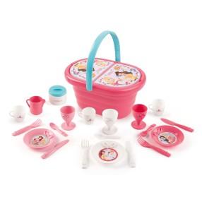 Smoby Księżniczki Disneya - Koszyk piknikowy z akcesoriami 310573