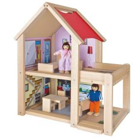 Eichhorn - Mały domek dla lalek z mebelkami i figurkami 2501