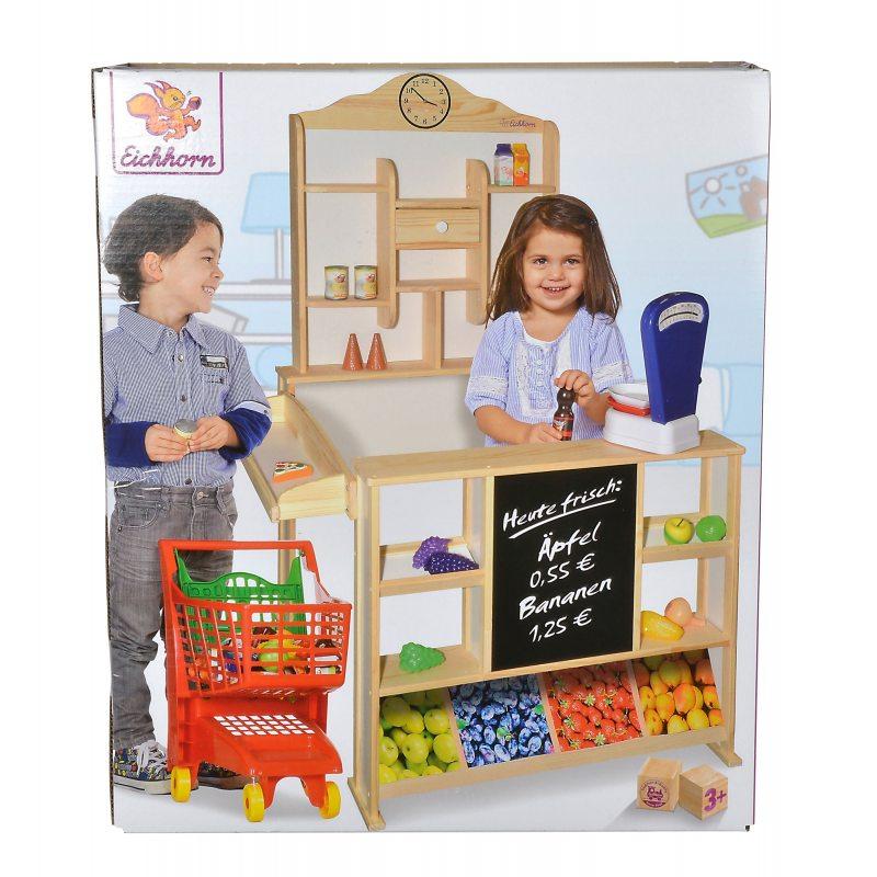 10fca0bd0bde5a Eichhorn - Drewniany Sklep z ladą dla dzieci 2553