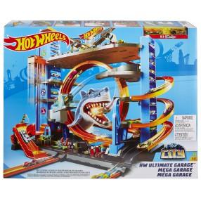 Hot Wheels City - Mega garaż Rekina + 2 Autka FTB69