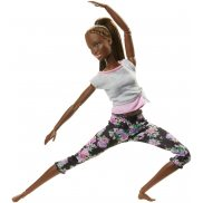 Barbie - Made to Move Kwieciste Lalka ciemnoskóra FTG83
