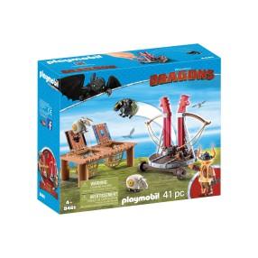 Playmobil - Pyskacz Gbur z katapultą do owiec 9461