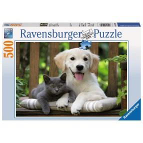 Ravensburger - Puzzle Zaprzyjaźnione Przeciwieństwa 500 elem. 142347