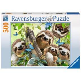 Ravensburger - Puzzle Leniwcowe Selfie 500 elem. 147908