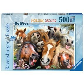 Ravensburger - Puzzle Wesołe Konie Selfie 500 elem. 146956