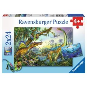 Ravensburger - Puzzle Prehistoryczne Giganty 2x24 elem. 088904