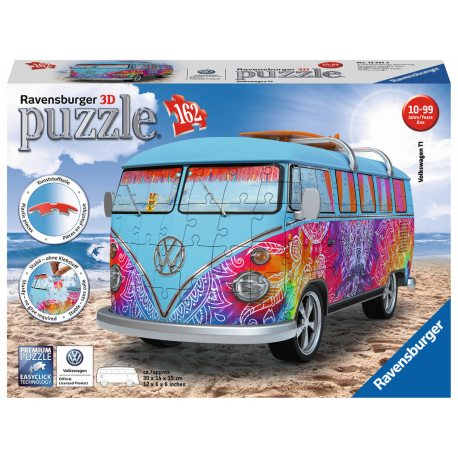 Ravensburger - Puzzle 3D Volkswagen Bus T1 Indian Summer 162 elem. 125272