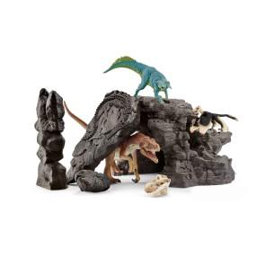 Schleich - Zestaw Dinozaurów z jaskinią 41461