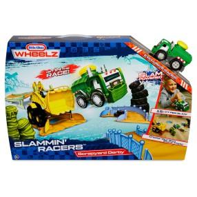 Little Tikes - Slammin' Racers Arena do wyścigów + Autko Śmieciarka 646980