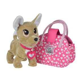 Simba Chi Chi Love - Interaktywny Piesek Happy z różową torbą Polska Wersja 5893110