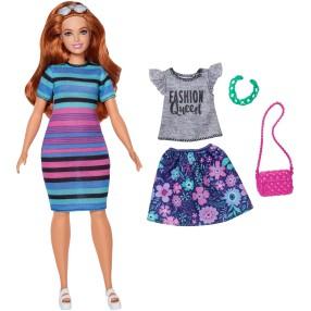 Barbie Fashionistas - Lalka Happy Hued Nr 84 + Ubranko i Akcesoria FJF69