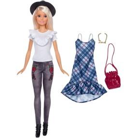 Barbie Fashionistas - Lalka Denim Floral Nr 83 + Ubranko i Akcesoria FJF68