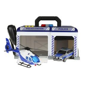 Dickie SOS - Posterunek Policji z samochodem i helikopterem Światło Dźwięk 3716012