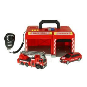 Dickie SOS - Remiza strażacka z samochodem i wozem Światło Dźwięk 3716013