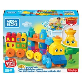 Mega Bloks First Builders - Muzyczny Pociąg ABC z dźwiękami FWK22