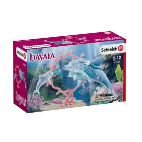 Schleich Świat Elfów Bayala - Zestaw Mama Delfin z dziećmi 41463