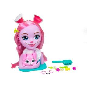 EnchanTimals - Głowa do stylizacji Lalka Bree Bunny 9200144