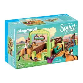 """Playmobil - Boks stajenny """"Lucky i Dziki"""" 9478"""