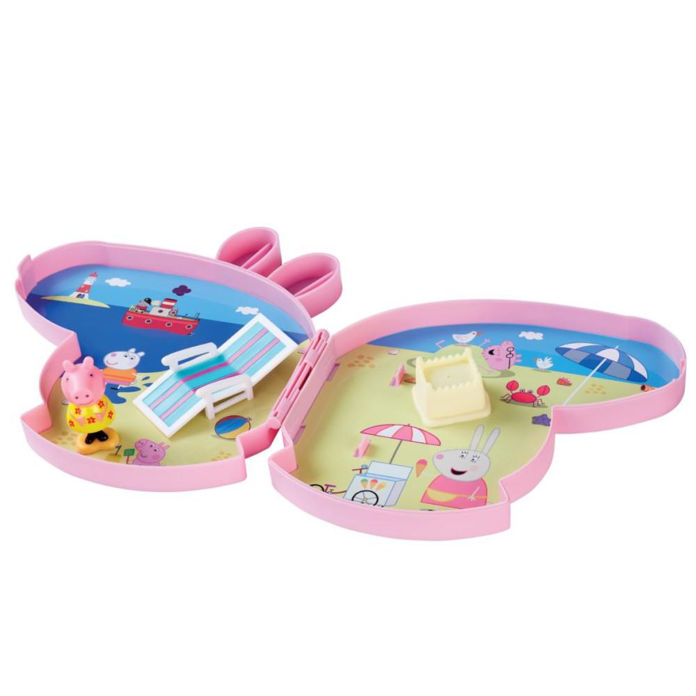 TM Toys Świnka Peppa - Walizeczka Plaża zestaw do zabawy z akcesoriami 05807