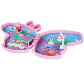 TM Toys Świnka Peppa - Walizeczka Boisko szkolne zestaw do zabawy z akcesoriami 05806