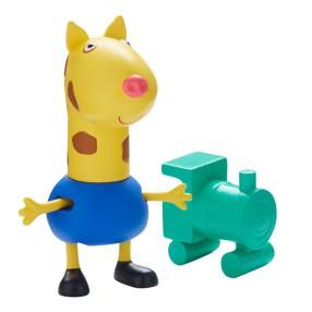TM Toys Świnka Peppa - Figurka Żyrafa Gerald z lokomotywą 05680 H