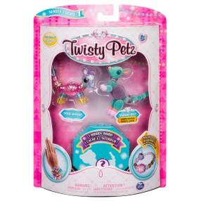 Spin Master Twisty Petz - Bransoletki Pixie Mouse i Radiant Roo + niespodzianka 3-pak seria 1 20103207