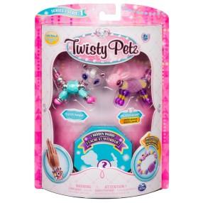 Spin Master Twisty Petz - Bransoletki Glitzy Panda i Fluffles Bunny + niespodzianka 3-pak seria 1 20103206