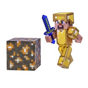 Minecraft - Figurka Steve w złotej zbroi 16488