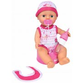 Simba New Born Baby - Lalka funkcyjna z akcesoriami 30 cm ciemny róż 5037800 01