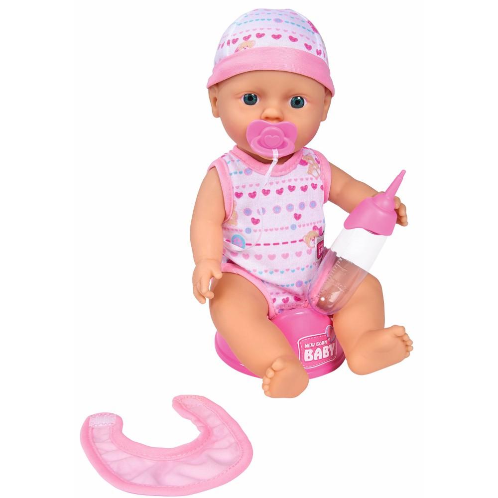 Simba New Born Baby - Lalka funkcyjna z akcesoriami 30 cm jasny róż 5037800 02