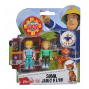 Simba - Strażak Sam 2 Figurki z akcesoriami Sarah, James i Lion 9251026 B