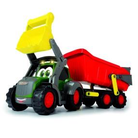 Dickie Happy - Fendt Traktor z przyczepką wywrotką Światło Dźwięk 3819002