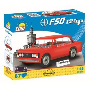 COBI Youngtimer - FSO Fiat 125P czerwony 24544