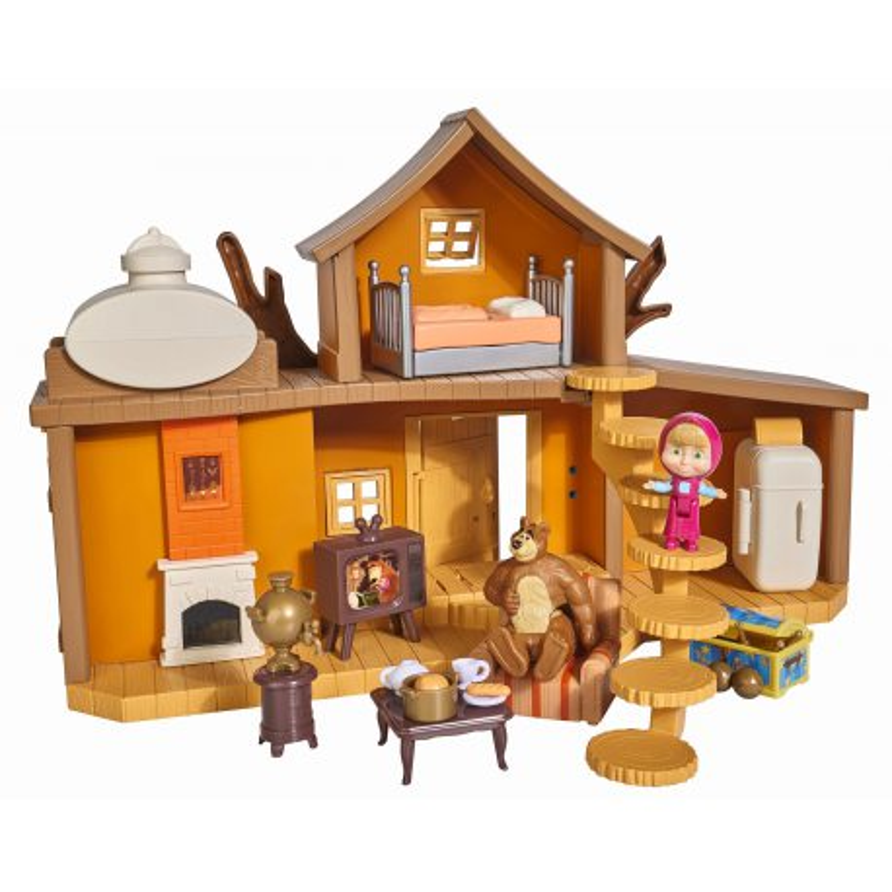 Simba Masza i Niedźwiedź - Dwupoziomowy dom Niedźwiedzia Miszy z dźwiękiem 9301032