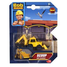 Dickie Bob Budowniczy - Metalowy pojazd koparka Scoop 1:64 3131012 A