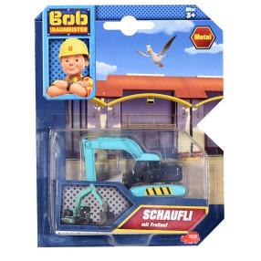 Dickie Bob Budowniczy - Metalowy pojazd koparka gąsienicowa Stretch 1:64 3131012 F