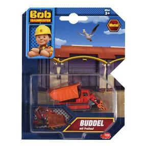 Dickie Bob Budowniczy - Metalowy pojazd spychacz Muck 1:64 3131012 E