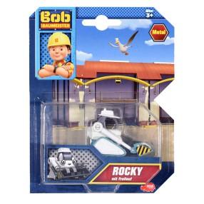 Dickie Bob Budowniczy - Metalowy pojazd ładowarka gąsienicowa Rocky 1:64 3131012 D