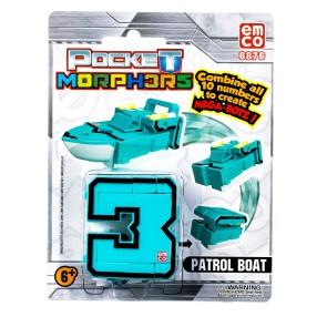 "Pocket Morphers - Figurka ""3"" Pojazd Patrol Boat 6876"