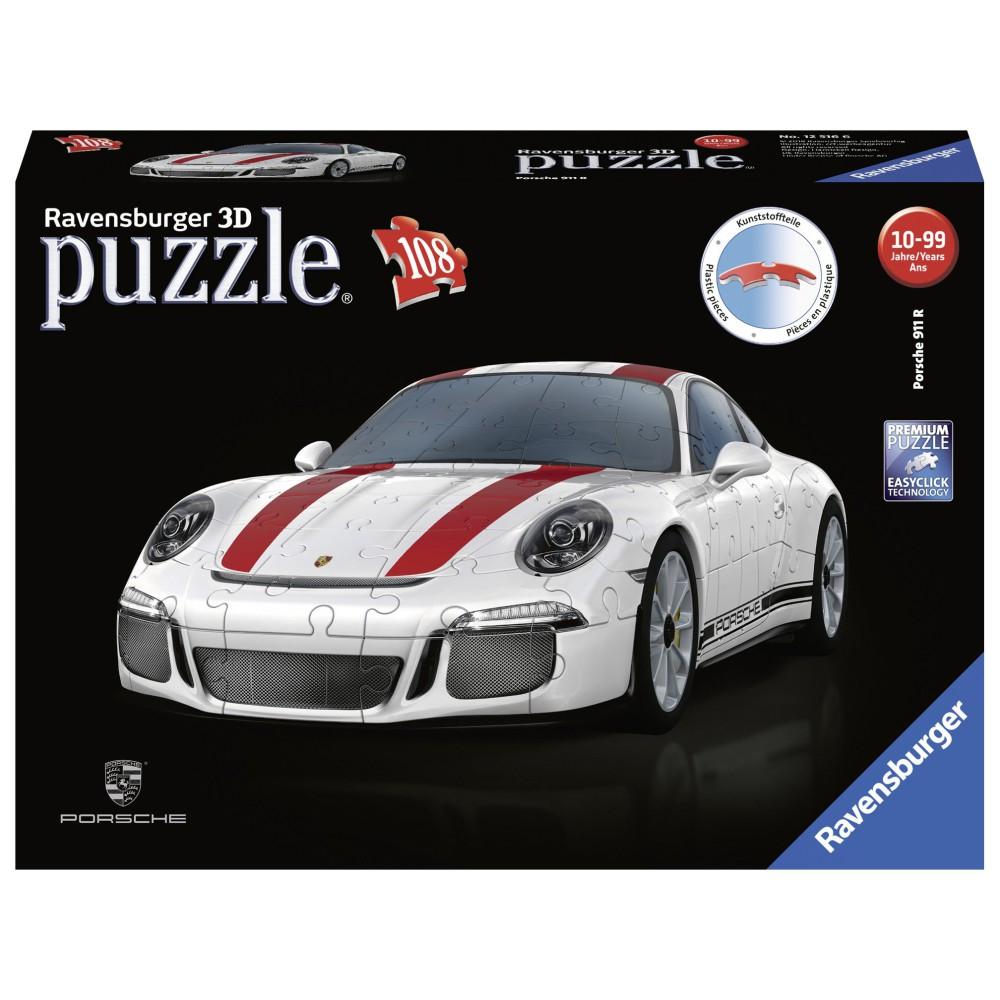 Ravensburger - Puzzle 3D Porsche 911 R 1:18 108 el. 125289