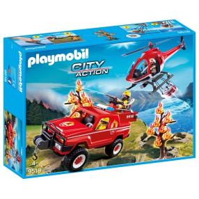 Playmobil - Akcja straży pożarnej w płonącym lesie 9518